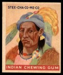 1947 Goudey Indian Gum #63   Stee-Cha-Co-Me-Co Front Thumbnail