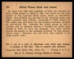 1941 Gum Inc. War Gum #59   Allied Planes Raid Japanese Island Back Thumbnail