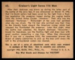 1941 Gum Inc. War Gum #63   Cruiser's Light Saves 116 Men Back Thumbnail
