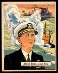 1941 Gum Inc. War Gum #5   Admiral Ernest Joseph King Front Thumbnail
