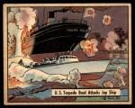 1941 Gum Inc. War Gum #34   U.S. Torpedo Boat Attacks Japanese Ship Front Thumbnail