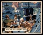 1941 Gum Inc. War Gum #72   Daring Sub Saves Corregidor's Gold Front Thumbnail