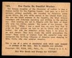 1941 Gum Inc. War Gum #105   Eve Curie Back Thumbnail