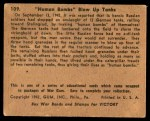 1941 Gum Inc. War Gum #109   Human Bombs Blow Up Tanks Back Thumbnail
