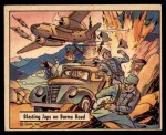 1941 Gum Inc. War Gum #113   Blasting Japanese On Burma Road Front Thumbnail