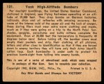 1941 Gum Inc. War Gum #121   Yank High Altitude Bombers Back Thumbnail