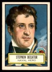 1952 Topps Look 'N See #38  Stephen Decatur  Front Thumbnail
