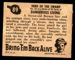 1950 Topps Bring Em Back Alive #89   Hero Of The Swamp Back Thumbnail