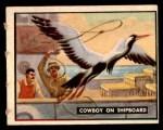 1950 Topps Bring Em Back Alive #85   Cowboy On Shipboard Front Thumbnail