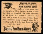1950 Topps Bring Em Back Alive #24   Dragged To Death Back Thumbnail
