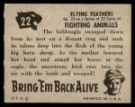 1950 Topps Bring Em Back Alive #22   Flying Feathers Back Thumbnail