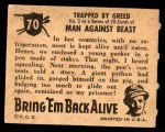 1950 Topps Bring Em Back Alive #70   Trapped By Greed Back Thumbnail