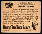 1950 Topps Bring Em Back Alive #64   Jungle Fight Back Thumbnail