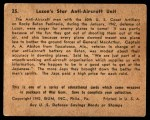 1941 Gum Inc. War Gum #25   Luzon's Star Anti-Aircraft Unit Back Thumbnail