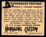 1950 Topps Hopalong Cassidy #6   Solemn promise Back Thumbnail