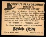 1950 Topps Hopalong Cassidy #135   Unexpected danger Back Thumbnail