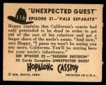 1950 Topps Hopalong Cassidy #116   Pals seperate Back Thumbnail