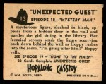 1950 Topps Hopalong Cassidy #113   Mystery man Back Thumbnail