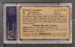 1952 Bowman Large #63  Charley Conerly  Back Thumbnail