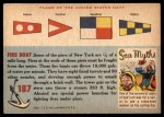 1955 Topps Rails & Sails #187   Fire Boat Back Thumbnail
