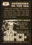 1966 Topps Batman -  Riddler Back #37 RID  Showdown on the Sea Back Thumbnail