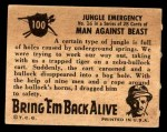 1950 Topps Bring Em Back Alive #100   Jungle Emergency Back Thumbnail