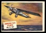 1954 Topps Scoop #3   Lindbergh Flies Atlantic  Front Thumbnail