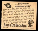 1950 Topps Bring Em Back Alive #40   Witch Doctor Back Thumbnail