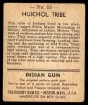1947 Goudey Indian Gum #53   Huichol Tribe Back Thumbnail