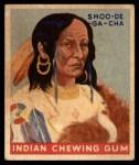 1947 Goudey Indian Gum #69   Shoo-De-Ga-Cha Front Thumbnail