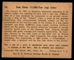 1941 Gum Inc. War Gum #33   Sub Sinks 17000-Ton Japanese Liner Back Thumbnail
