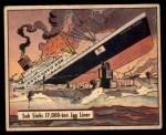 1941 Gum Inc. War Gum #33   Sub Sinks 17000-Ton Japanese Liner Front Thumbnail