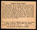 1941 Gum Inc. War Gum #127   Youngest Soviet Soldier Back Thumbnail