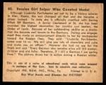 1941 Gum Inc. War Gum #85   Russian Girl Sniper Wins Coveted Medal Back Thumbnail
