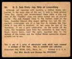 1941 Gum Inc. War Gum #86   U.S. Sub Sinks Japanese Ship At Launch Back Thumbnail