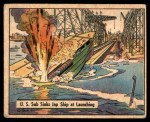 1941 Gum Inc. War Gum #86   U.S. Sub Sinks Japanese Ship At Launch Front Thumbnail