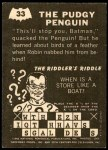 1966 Topps Batman -  Riddler Back #33 RID  The Pudgy Penguin Back Thumbnail