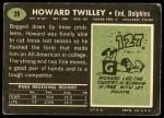 1969 Topps #28  Howard Twilley  Back Thumbnail