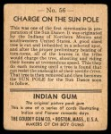 1947 Goudey Indian Gum #56   Charge On Sun Pole Back Thumbnail
