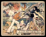 1941 Gum Inc. War Gum #8   U.S. Sailor Mans Five-Inch Gun Alone Front Thumbnail