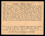 1941 Gum Inc. War Gum #124   Alaskan Flying Tigers Back Thumbnail