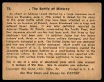 1941 Gum Inc. War Gum #78   The Battle Of Midway Back Thumbnail