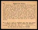 1941 Gum Inc. War Gum #96   Biggest Air Victory Back Thumbnail