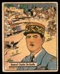 1941 Gum Inc. War Gum #97   General Charles De Gaulle Front Thumbnail