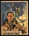 1941 Gum Inc. War Gum #98   Wing Commander Douglas R. Bader Front Thumbnail