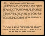1941 Gum Inc. War Gum #115   Flying Boat Captures Sub Crew Back Thumbnail