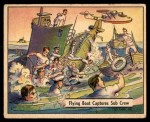 1941 Gum Inc. War Gum #115   Flying Boat Captures Sub Crew Front Thumbnail
