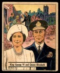 1941 Gum Inc. War Gum #100   King George VI and Queen Elizabeth Front Thumbnail