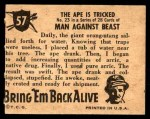 1950 Topps Bring Em Back Alive #57   The Ape Is Tricked Back Thumbnail