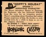 1950 Topps Hopalong Cassidy #50   Suspicious character Back Thumbnail